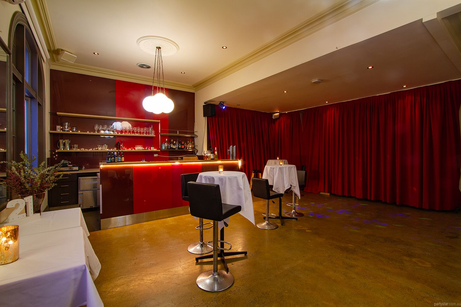 Upstairs at Errol's, North Melbourne, VIC. Function Room hire photo #1