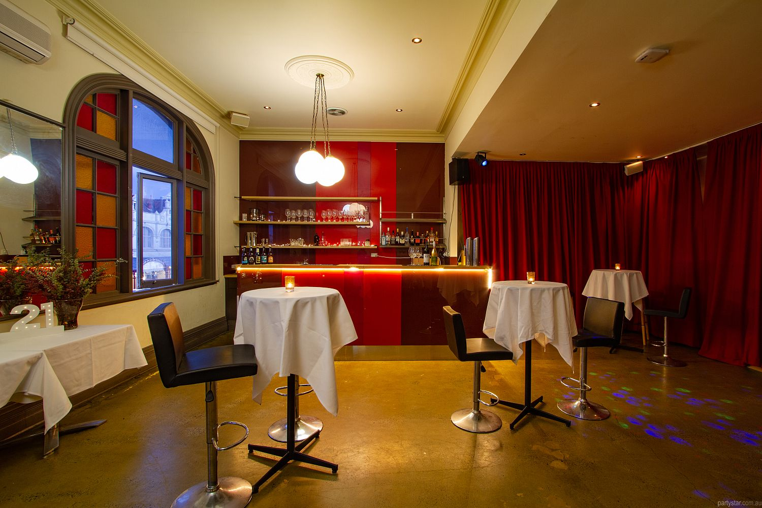 Upstairs at Errol's, North Melbourne, VIC. Function Room hire photo #2