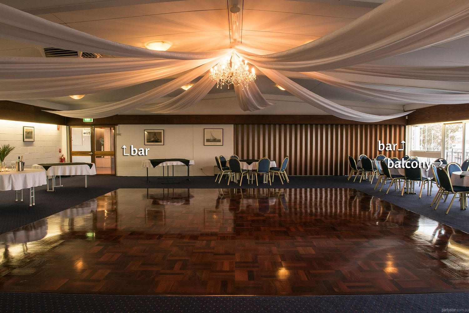 Flying Squadron Yacht Club, Dalkeith, WA. Function Room hire photo #3